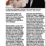 Article DNA du 2 juillet  2013 annonçant le changement de Présidence au sein d'ALEMPLOI.